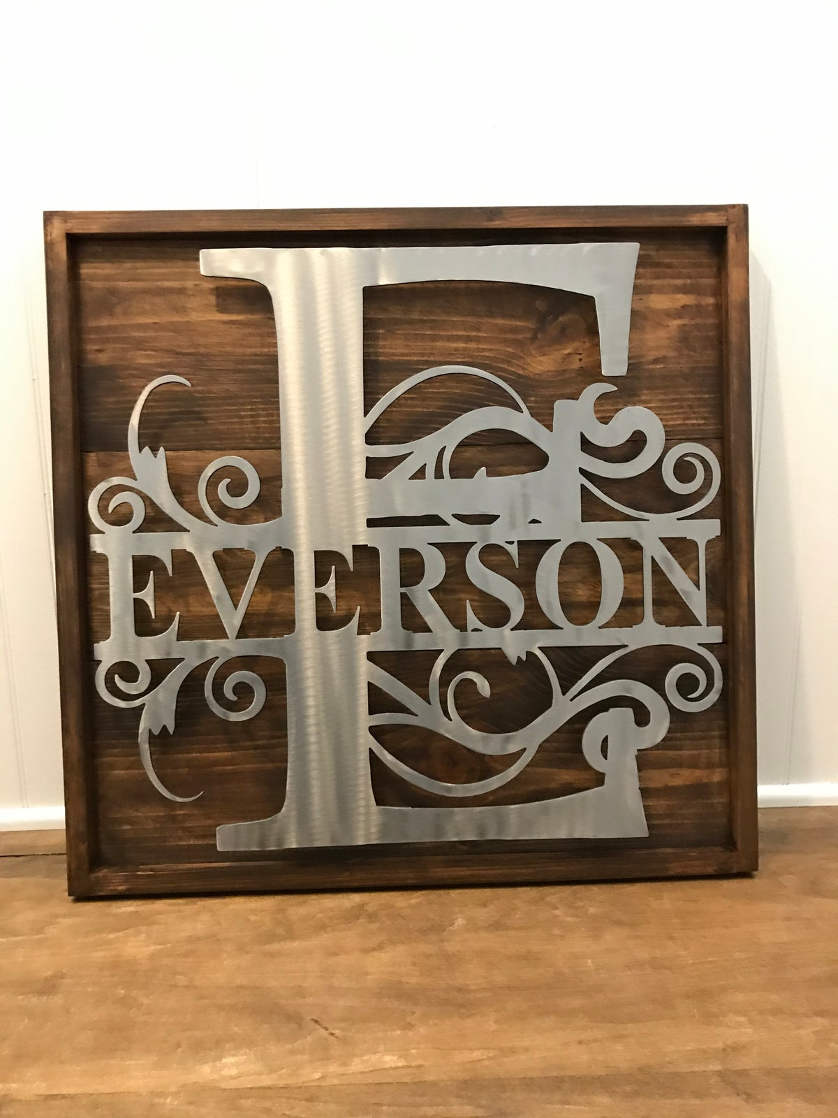 Monogram Mounted to Wood