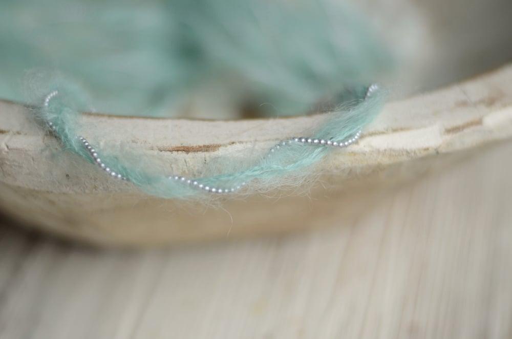Image of Aqua mohair headband