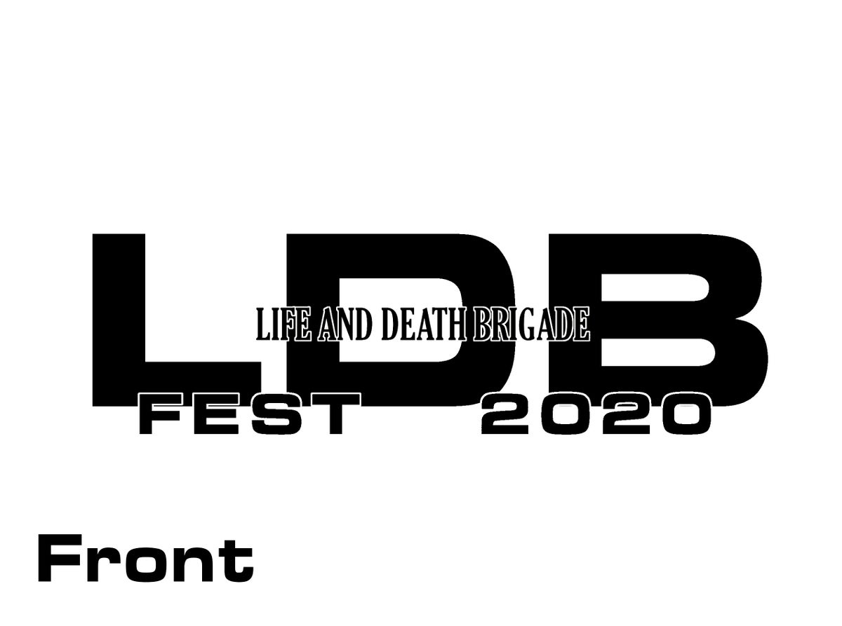 Image of LDB Fest 2020 Shirt Black Print