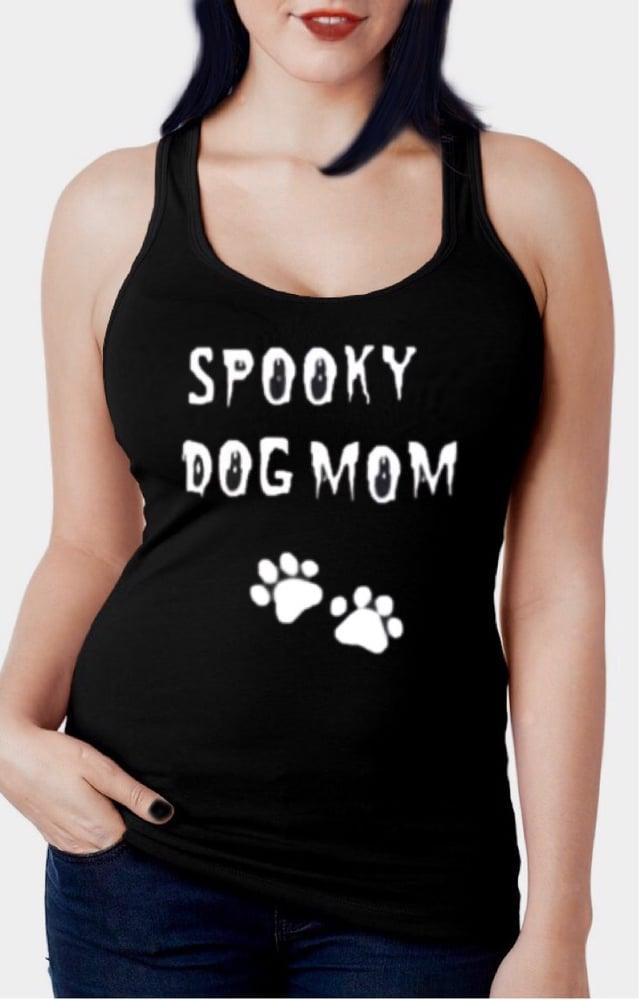 Image of Spooky Dog Mom Racerback Tank Top