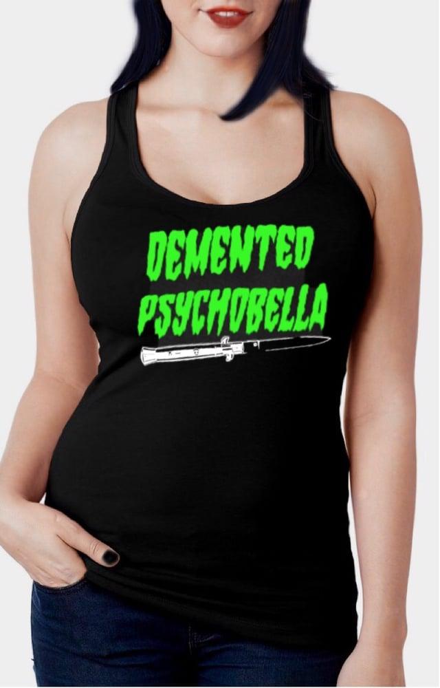 Image of Demented Psychobella Racerback Tank Top