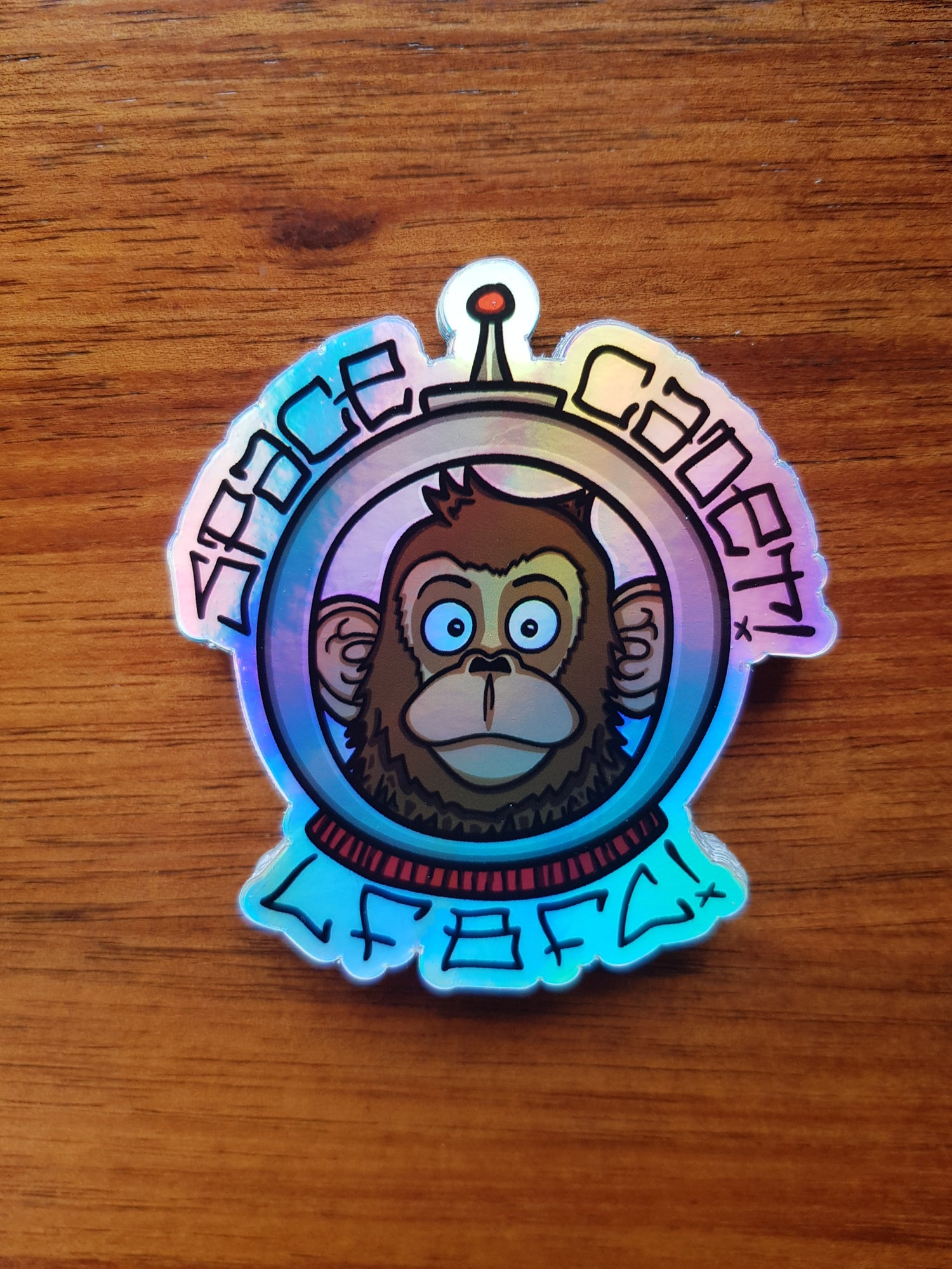 Image of Space Cadet Holographic Sticker