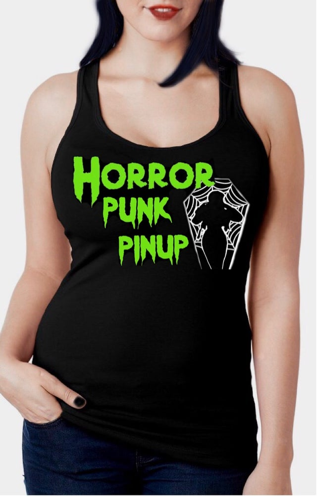 Image of Horror Punk Pinup Racerback Tank Top