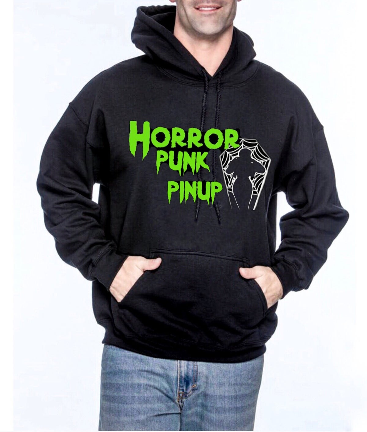 Image of Horror Punk Pinup Unisex Pullover Hoodie