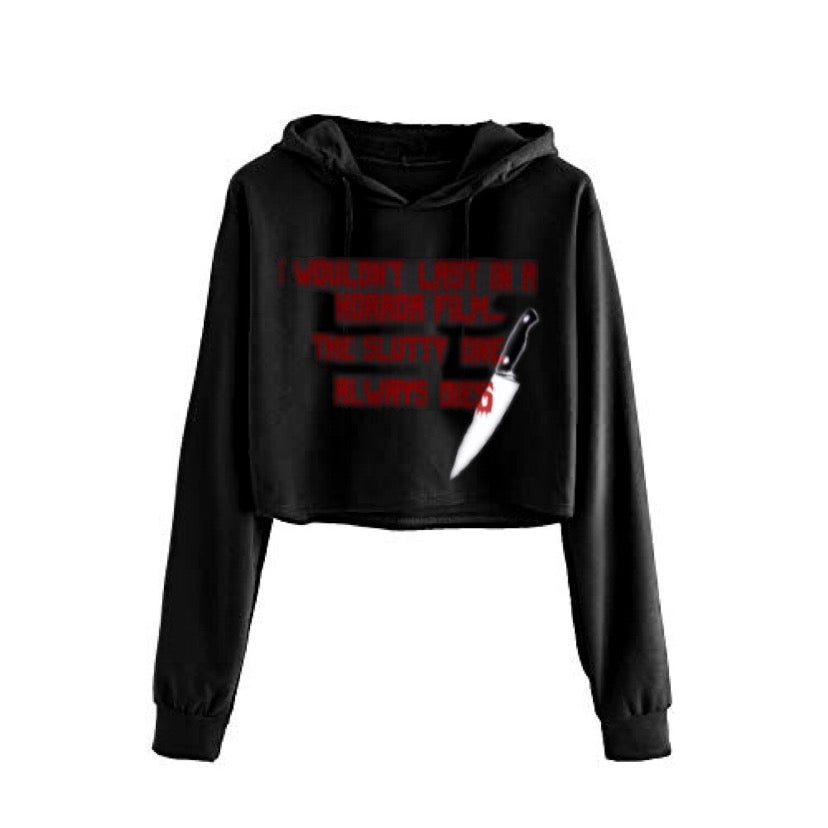 Image of Horror Film Cropped Hoodie