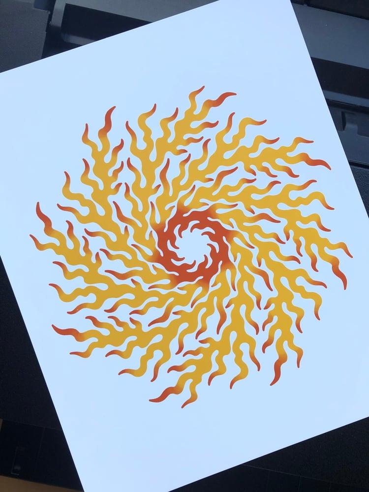 Image of Fire Wheel Art Print