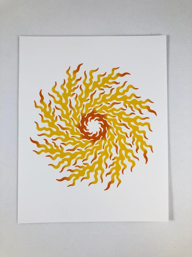 Image of Fire Wheel Mini Art Print