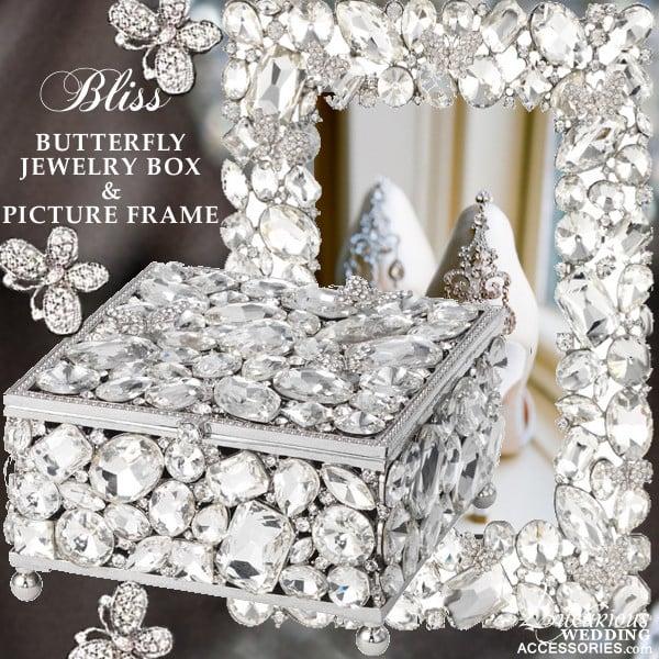 Bliss Swarovski Crystal Erfly, Swarovski Jewellery Box With Mirror