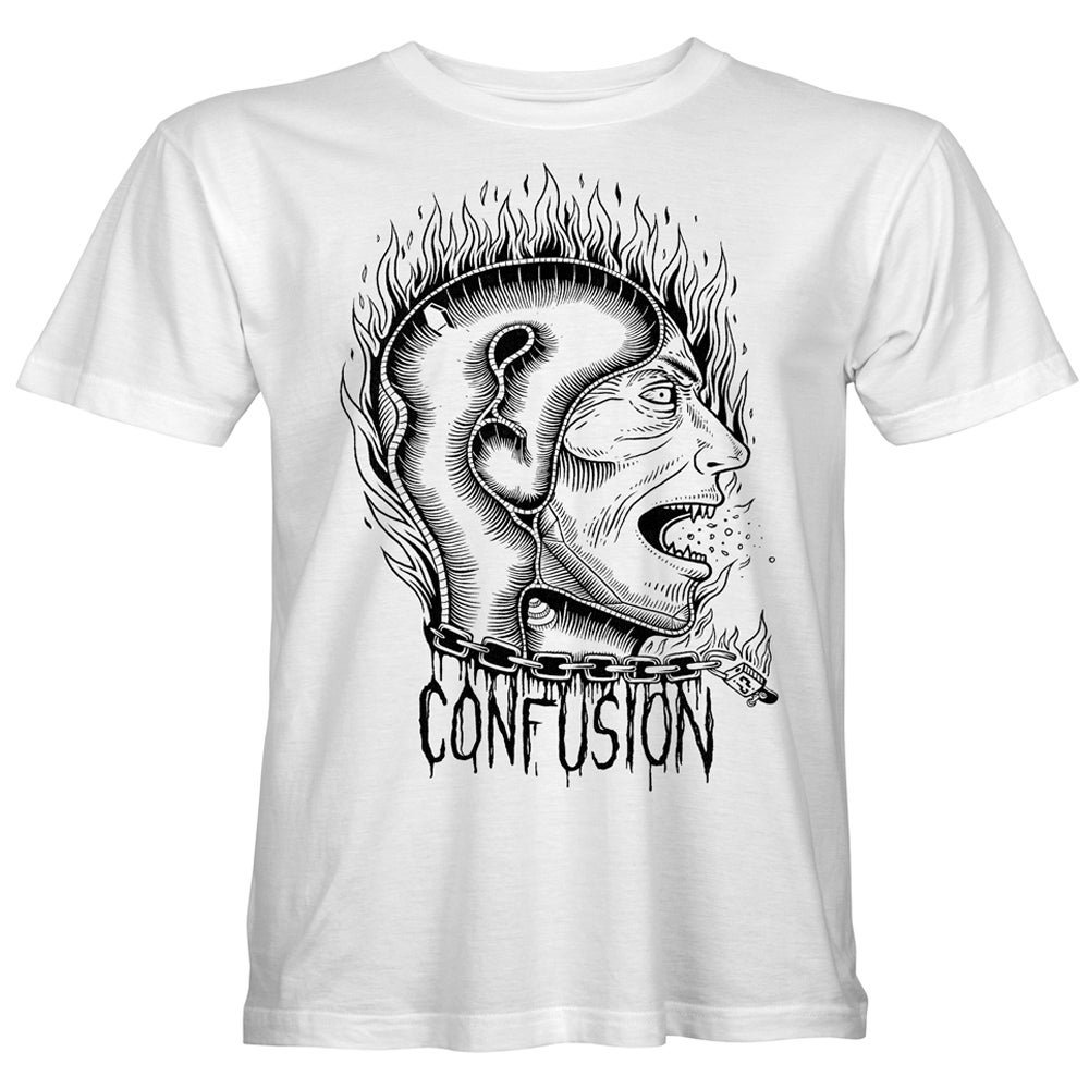 "Image of Confusion - ""Transitional Thoughts"" t-shirt [white]"
