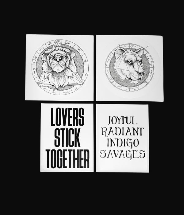 Image of Lion and Lyric Stickers