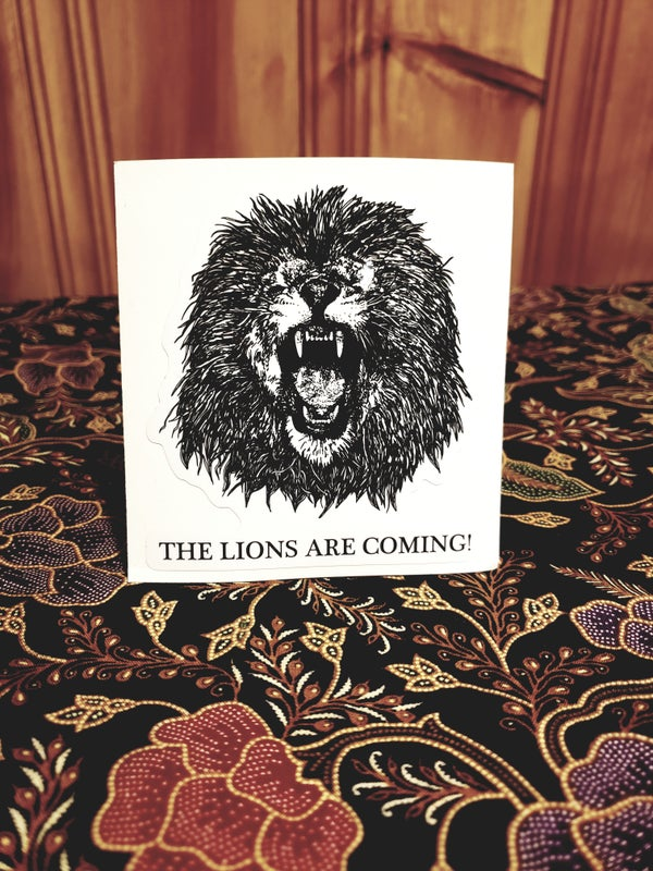 Image of The Lions Are Coming Sticker