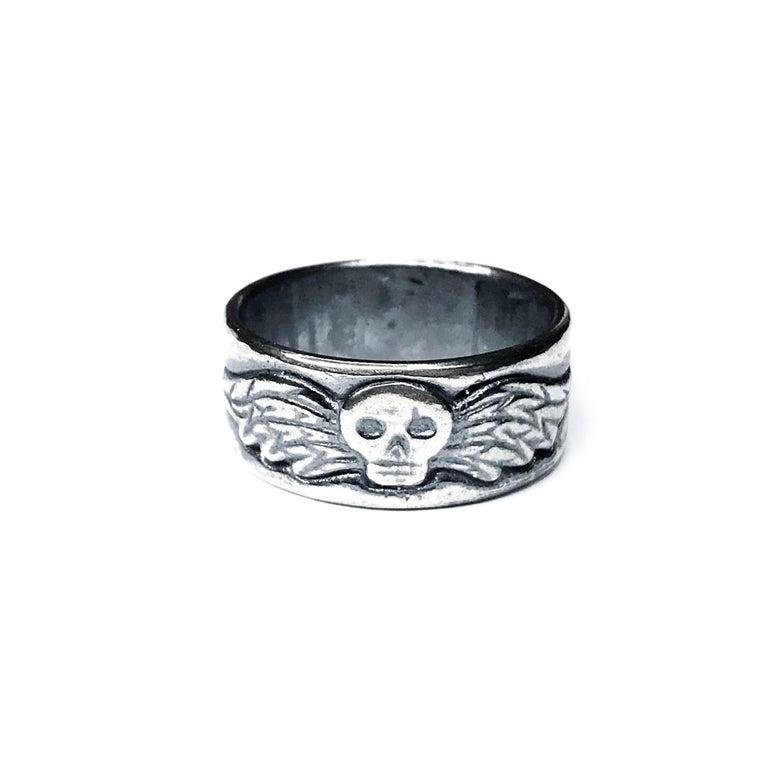 Image of Resurrectionist ring in oxidized sterling silver