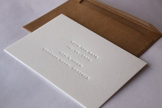 Image of Ben & Seth, Inkless Save the date cards