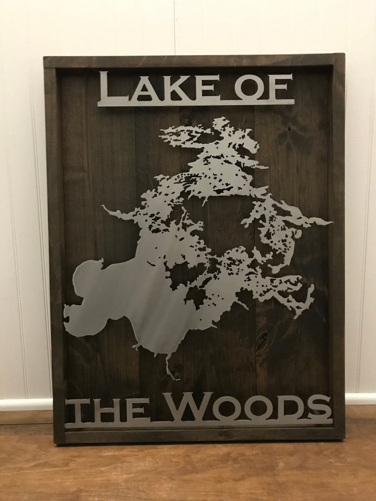 Lake Sign - Knotty Alder