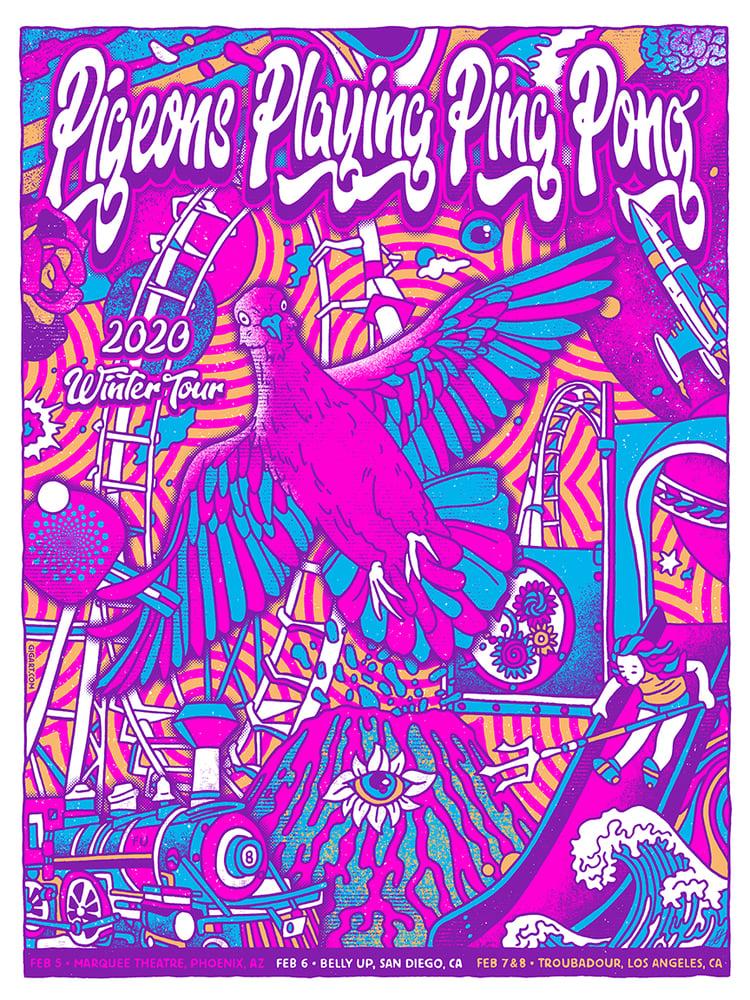 Image of Pigeons Playing Ping Pong Main 2020 Poster