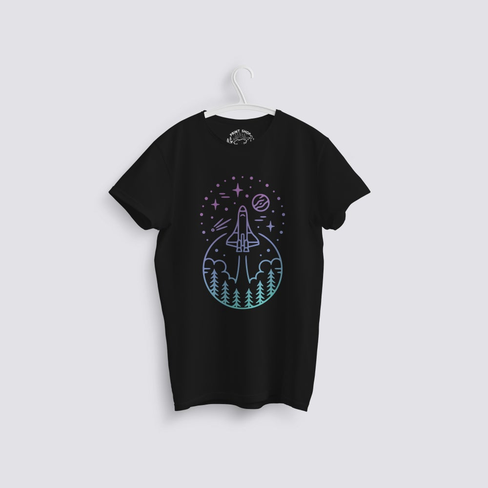 Image of Space Travel Gradient Scene T-Shirt