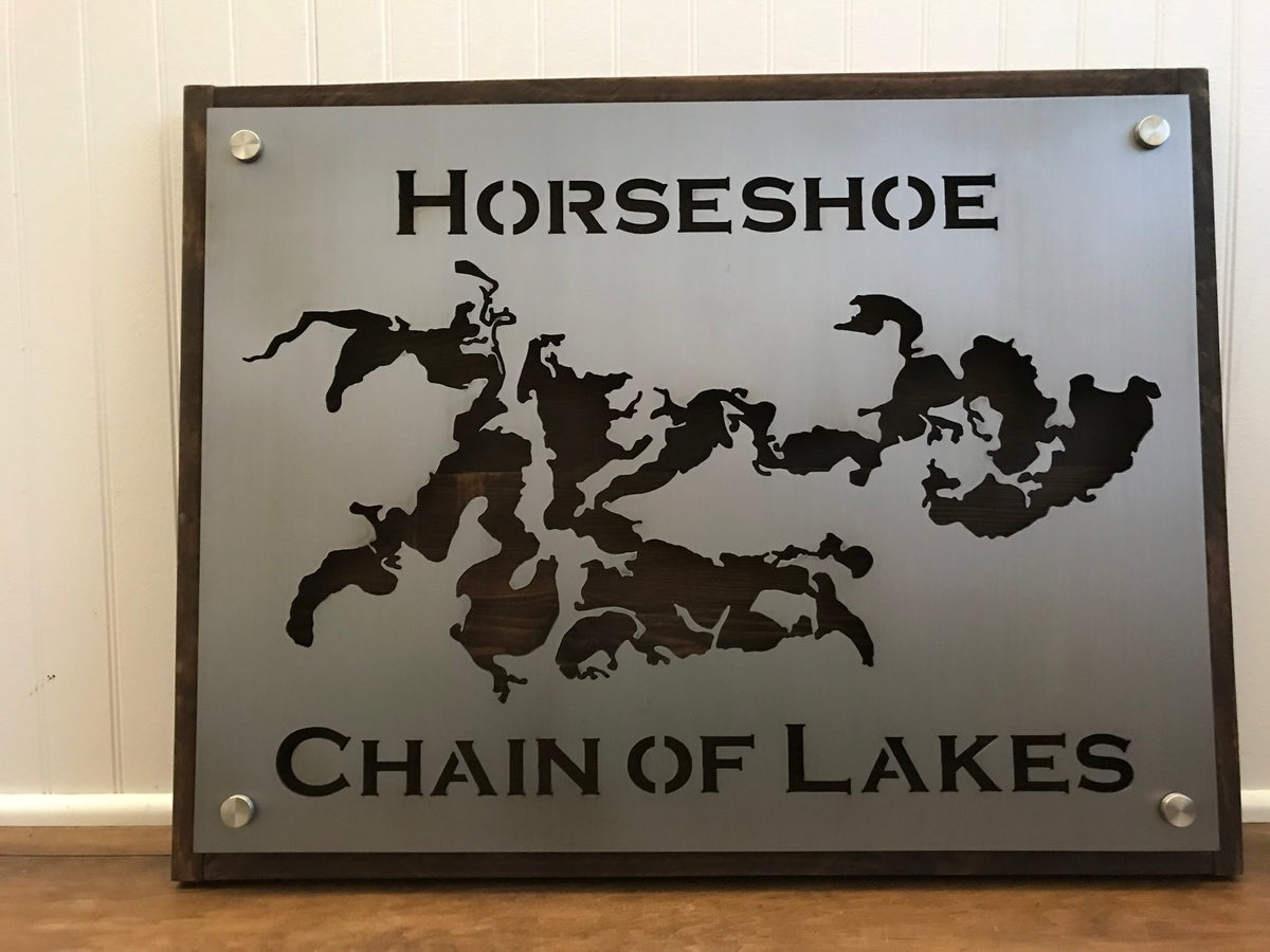 Lake Sign - Plate Style