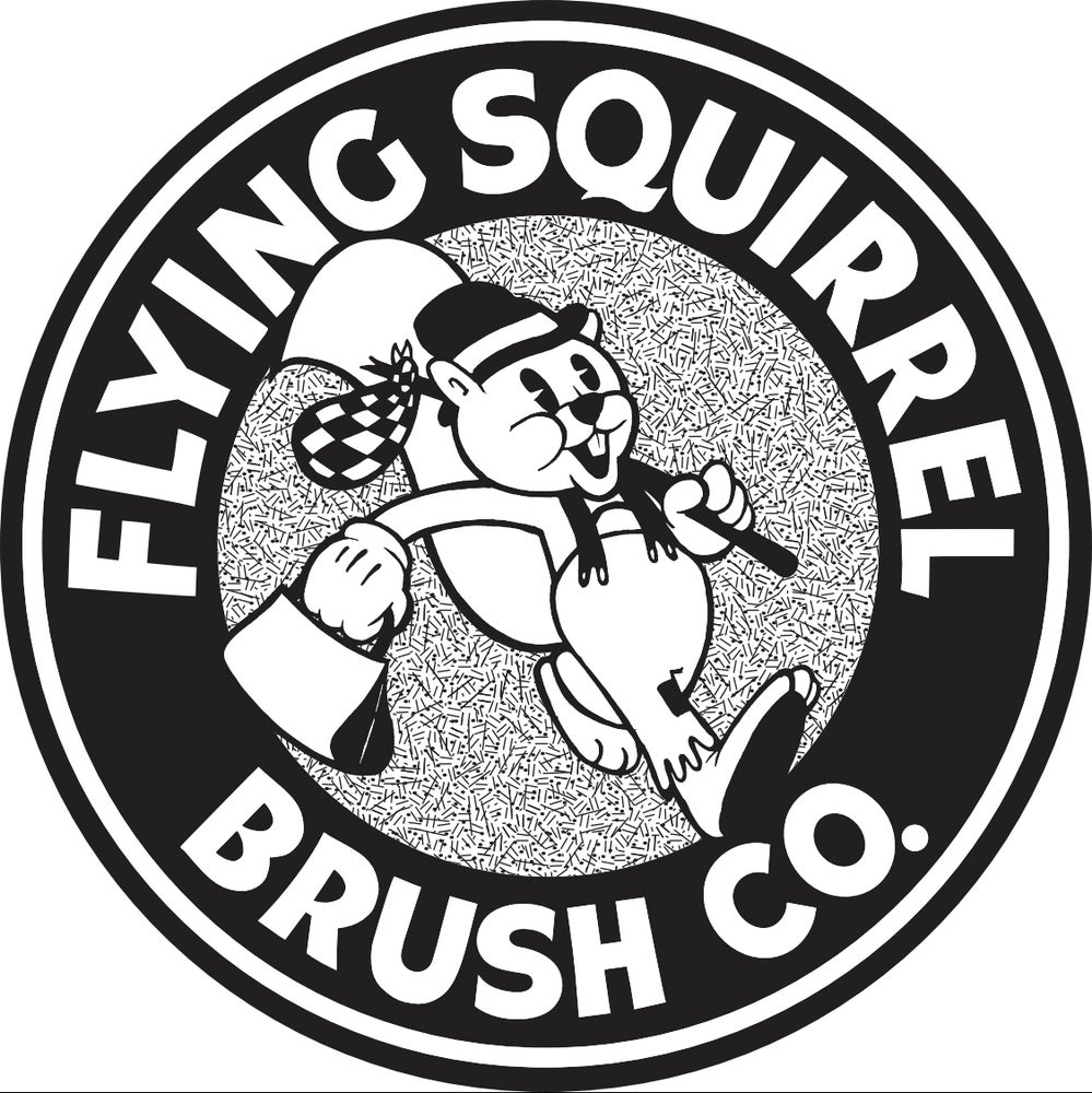 "Image of Black and white 3.5"" Flying Squirrel Die cut sticker"