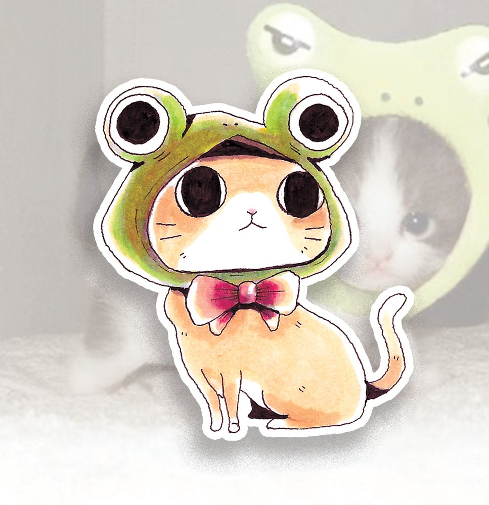 Image of Frog Cat Sticker
