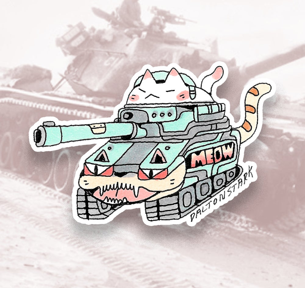 Image of Cat Tank Sticker