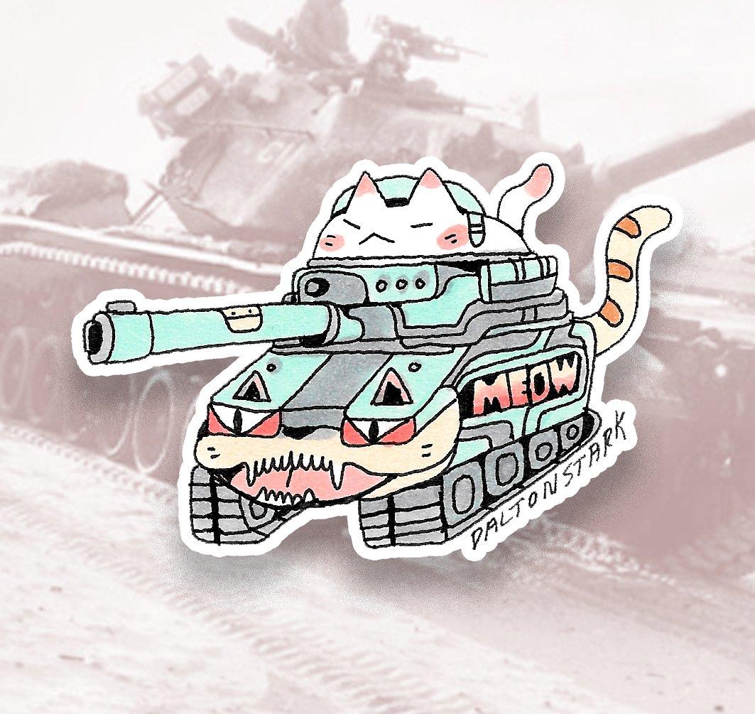 Image of Cat Tank Sticker