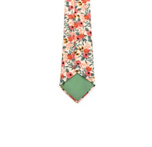 Image of Peach Floral Necktie