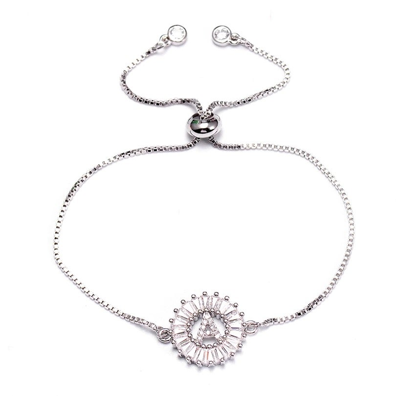 Image of Silver Initial Bracelet