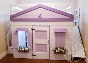 "Image of Solid Wood ""Ellie"" Playhouse loft bed"