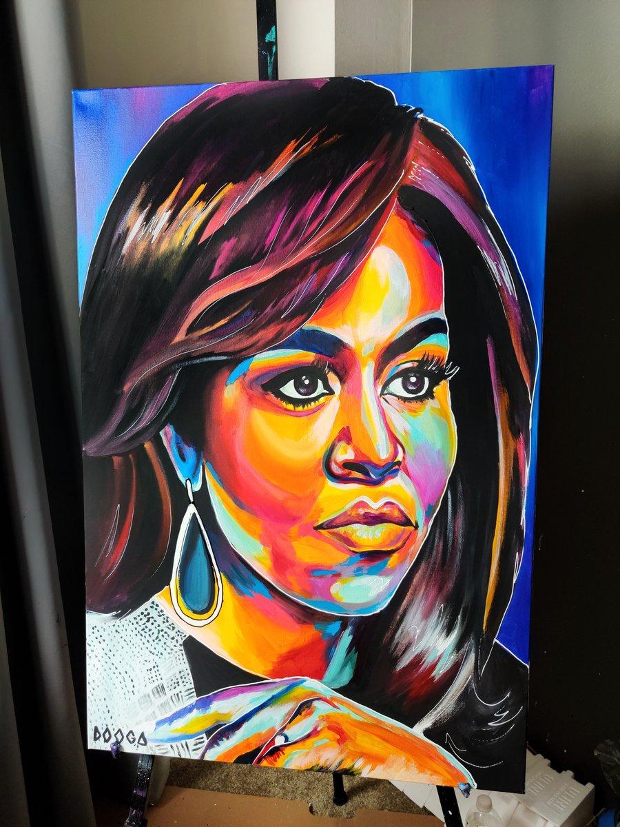 Image of Michelle Obama - Canvas Print