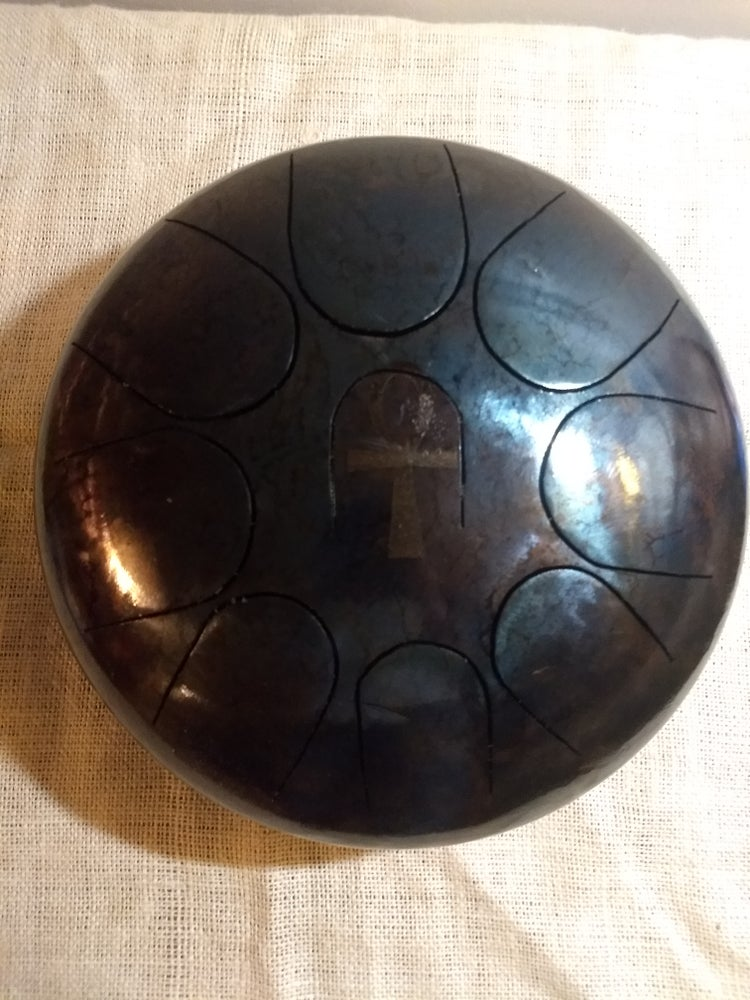 Image of 095 F Hijaz 9-note Patina Finish Steel Tongue Drum