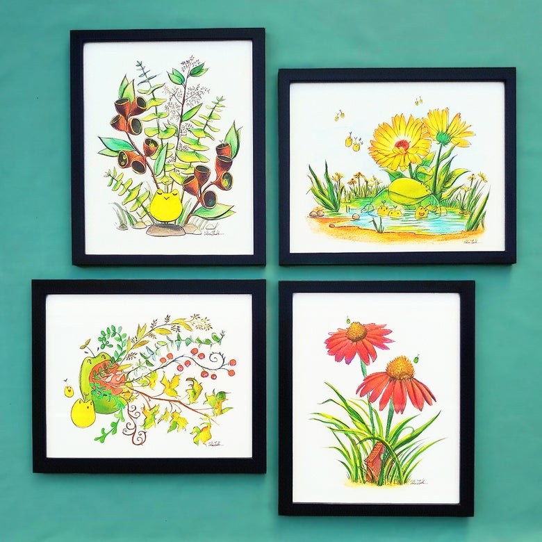 Image of Tiny Creatures 4-Print Set