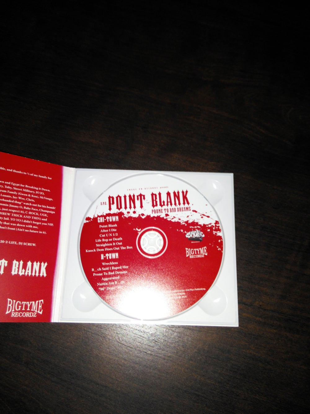 Image of Point Blank Prone to bad dreams O g Pressing Cd