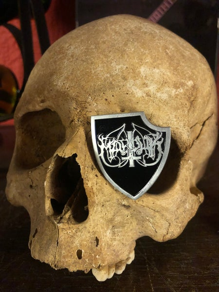 Image of Marduk Waffen Shield Metal Pin Badge
