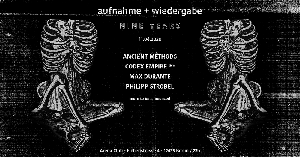 Image of NIGHT OWL TICKETS: 9 years of aufnahme + wiedergabe // 11.4. // Arena Club
