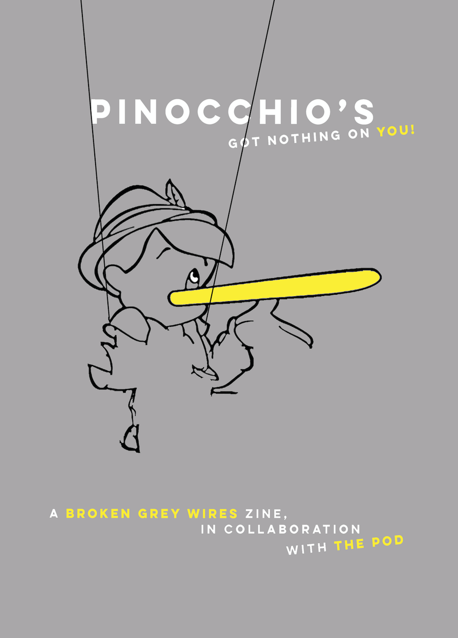Image of Pinocchio's got nothing on you (zine)