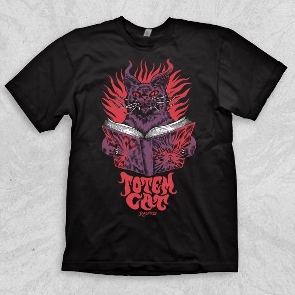 Image of TOTEM CAT T-SHIRT / NECRONOMICAT