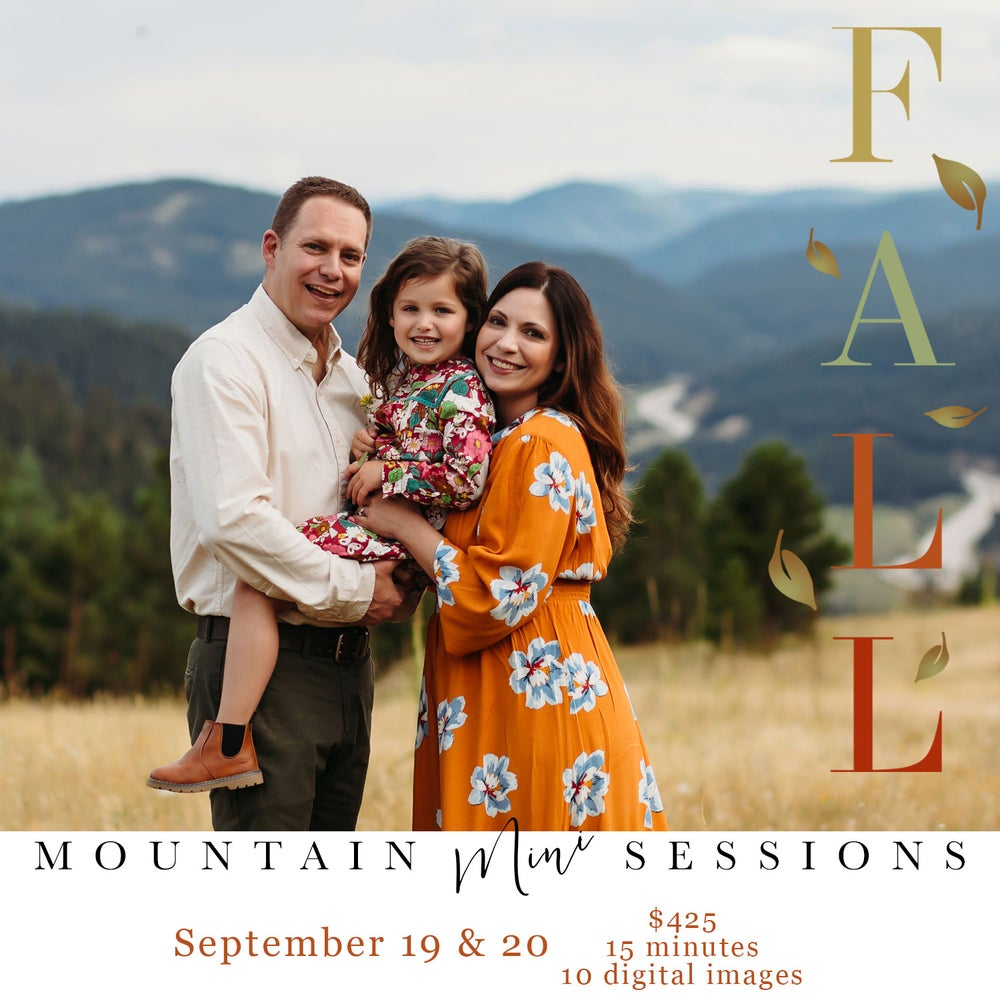 Image of FALL Mountain Mini Sessions - SEPTEMBER 20