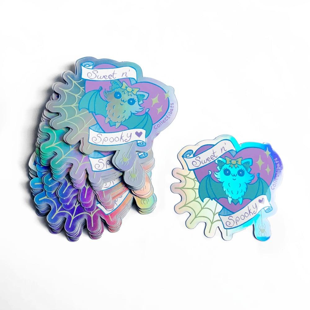 Sweet & Spooky Kawaii Holographic Sticker