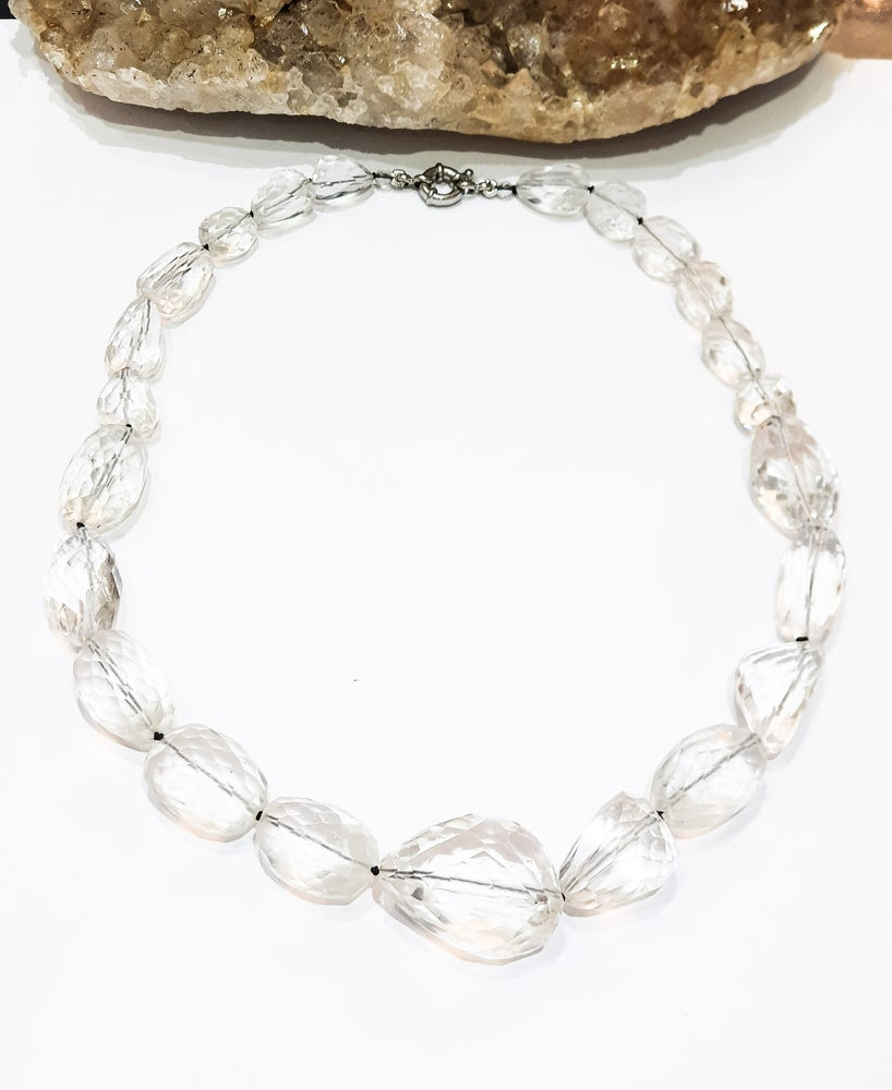 Image of Faceted Clear Quartz Necklace
