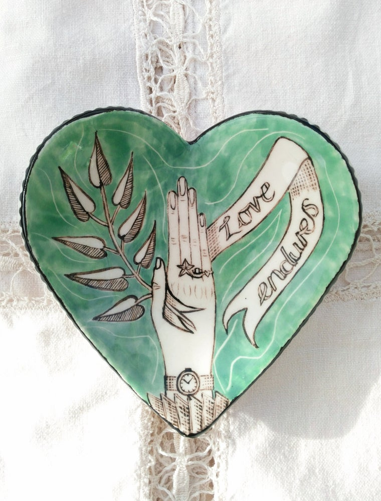 Image of Love Endures.   Jewellery Dish
