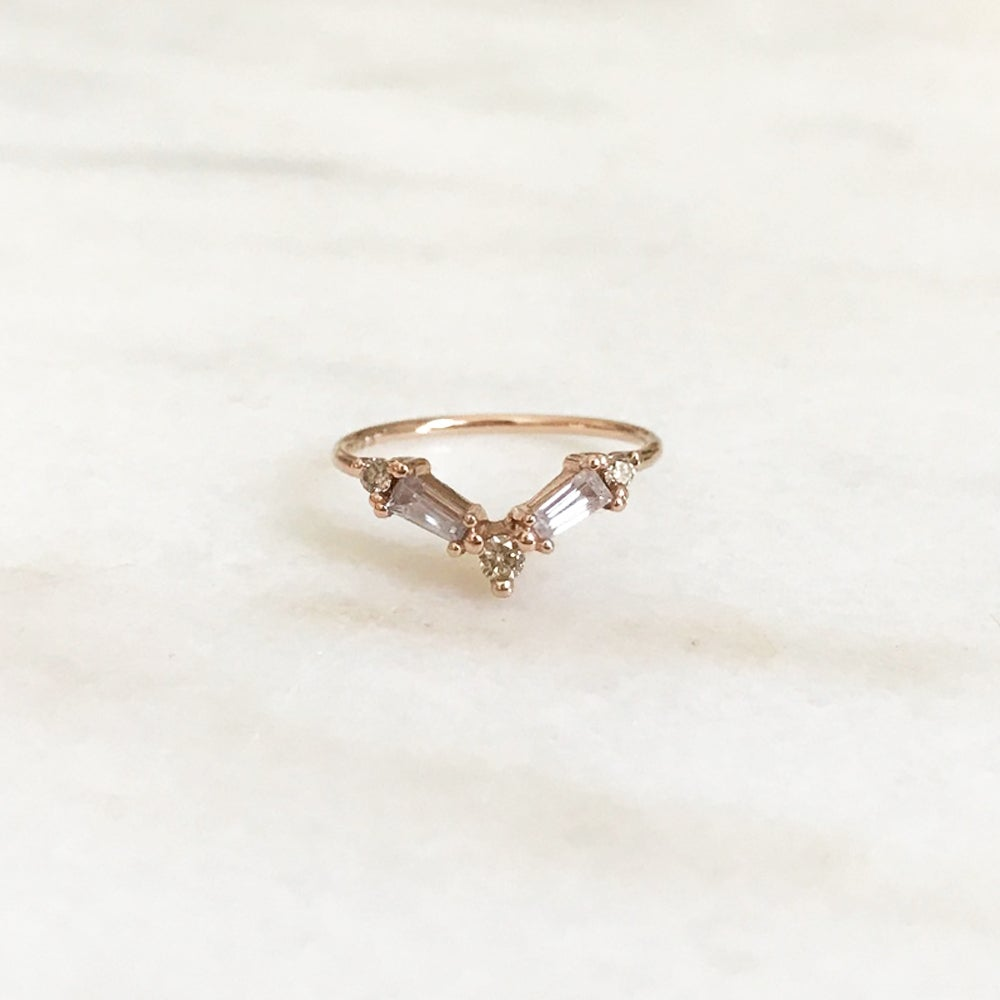 Image of Deco Baguette Ring