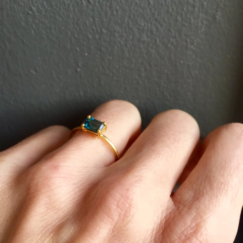 Image of Indian summer Ring - London blue Topaz
