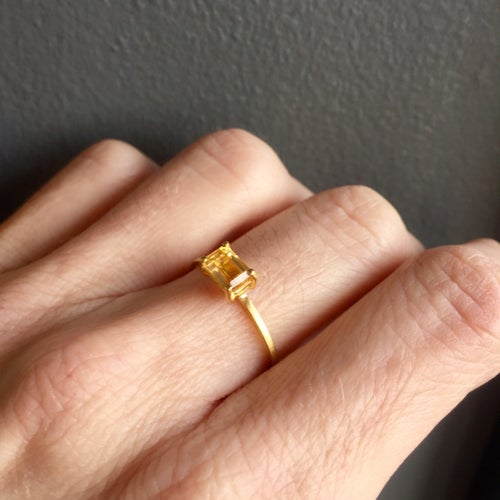 Image of Indian summer Ring - Gold Citrine