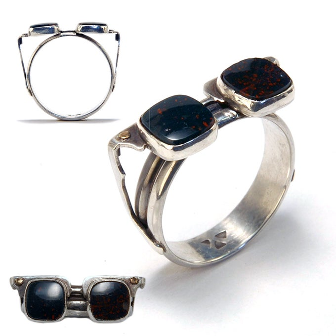 Image of Bloodstone Sunglasses Ring size 10 ¼