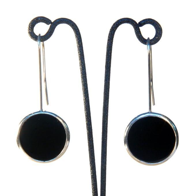 Image of Onyx Disc Earrings