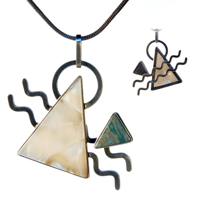 Image of Retro Triangle Pendant