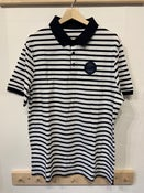 Image of SO58 Striped  Polo Shirt In White/Navy