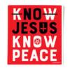No Jesus Know Peace Sticker
