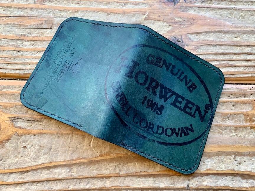 Image of Reverse Horween Shell Cordovan Bi-Fold Wallet