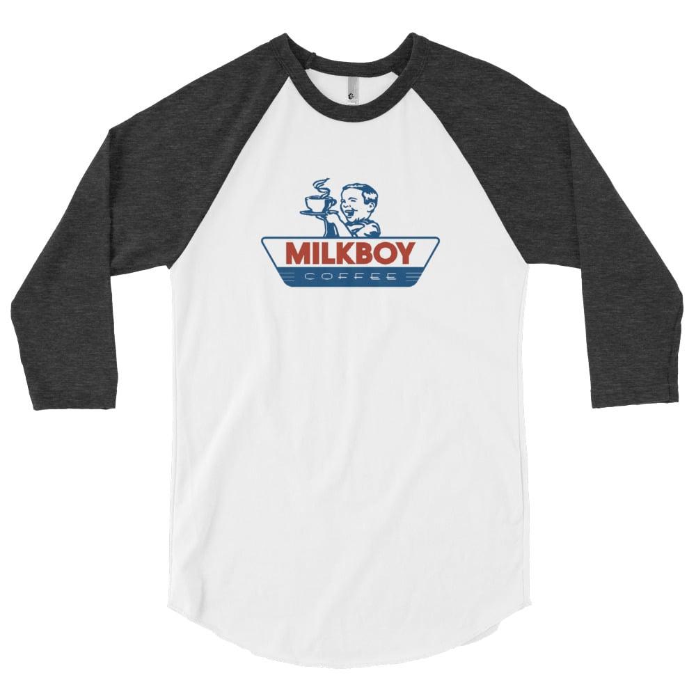 Image of MilkBoy Coffee Baseball Tee Heather Grey